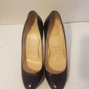 authentic christian louboutin black heels 39.5